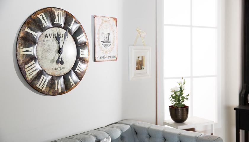 retro nástěnné hodiny XL