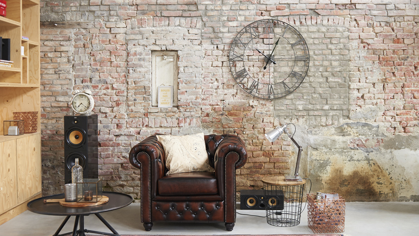vintage nástěnné hodiny XL