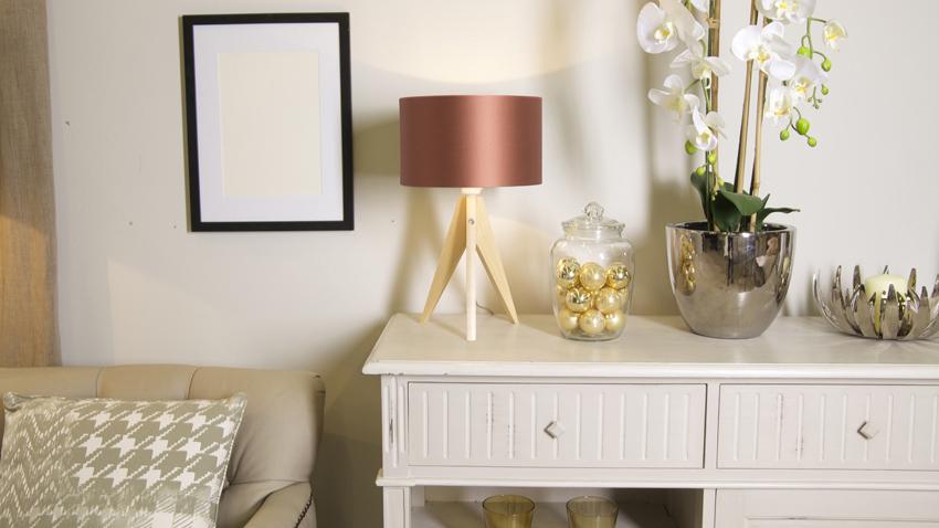 stylové měděné stojací lampy