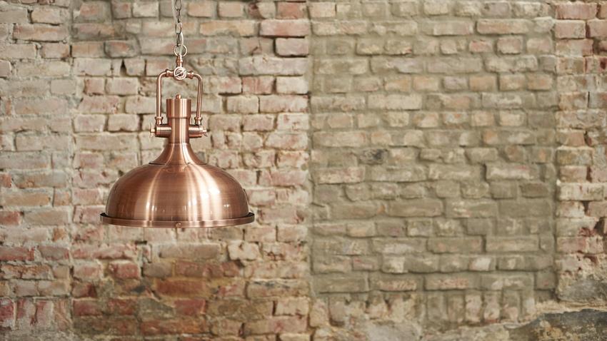 Měděné stojací lampy