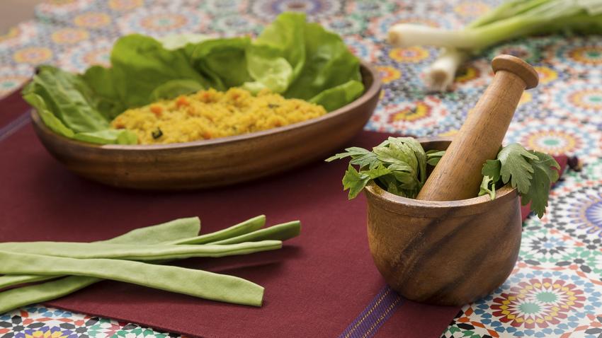 etno oválný talíř