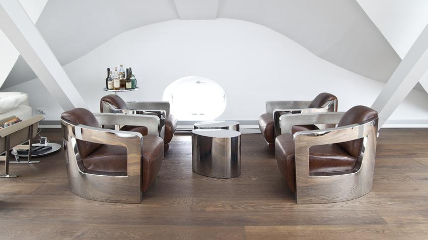 futuristický obývací pokoj