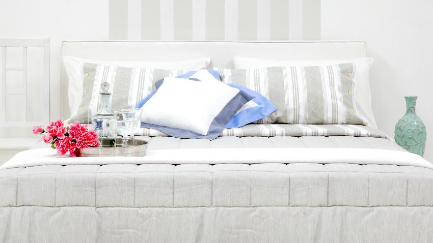 světle šedé postele boxspring 180 × 200