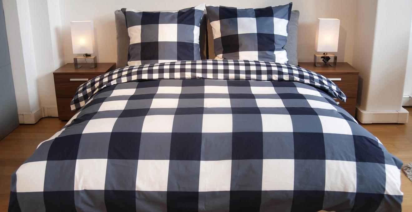 kostkované postele boxspring 180 × 200