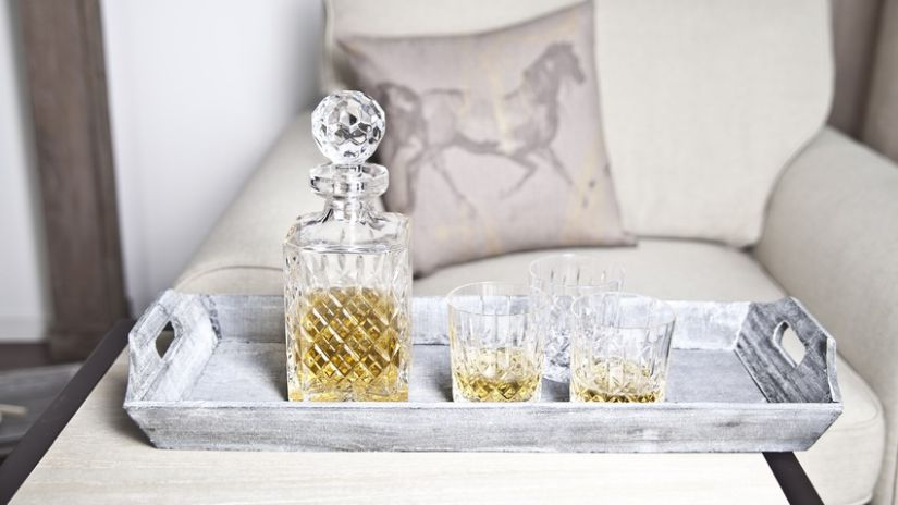 klasické skleničky na whisky