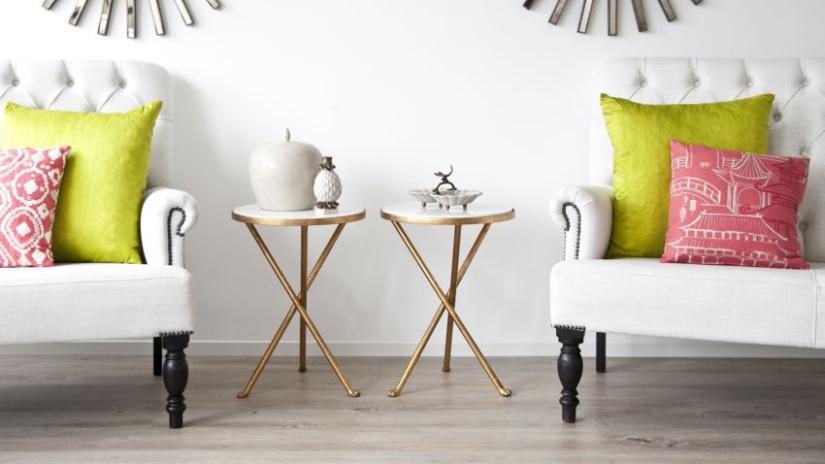 hedvábné dekorativní polštářky