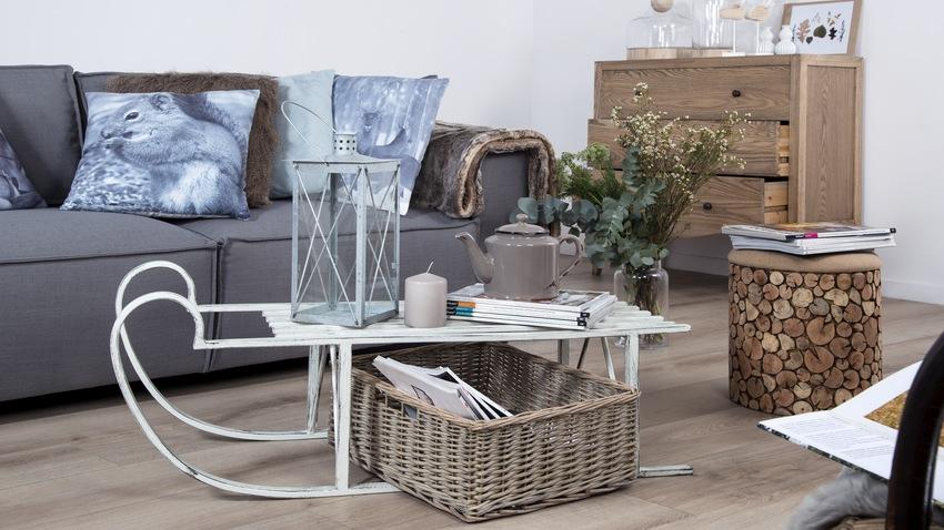 skandinávský design - šedá pohovka