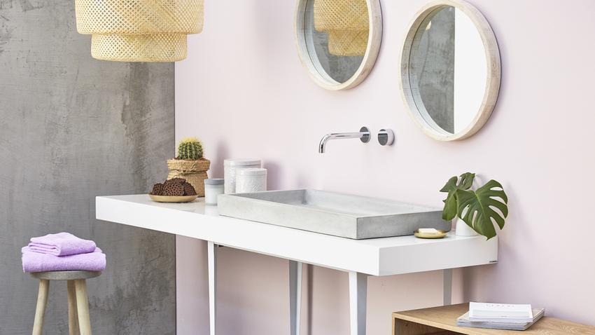 růžová koupelna