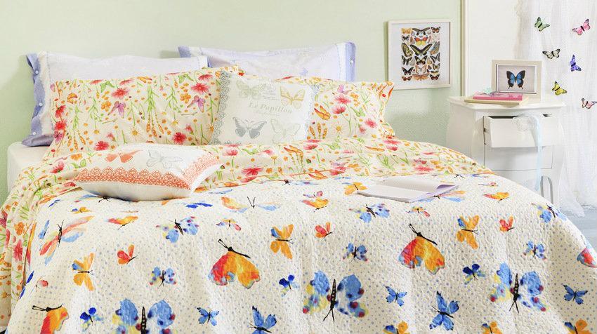 ložní prádlo s motýly