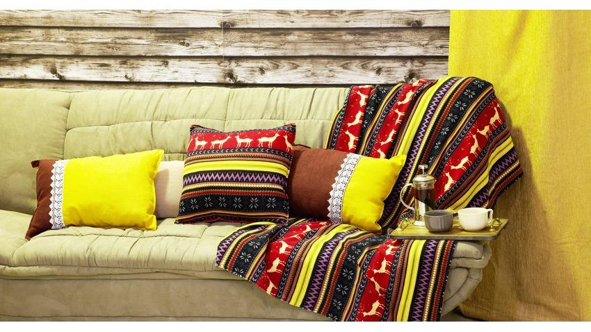 etno pohovka s postelí