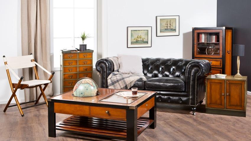 dřevěné zařízení obývacího pokoje
