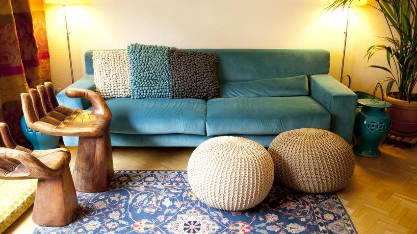zařízení obývacího pokoje z bazaru