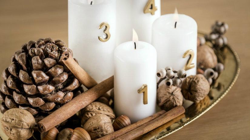 adventní svícen s čísly
