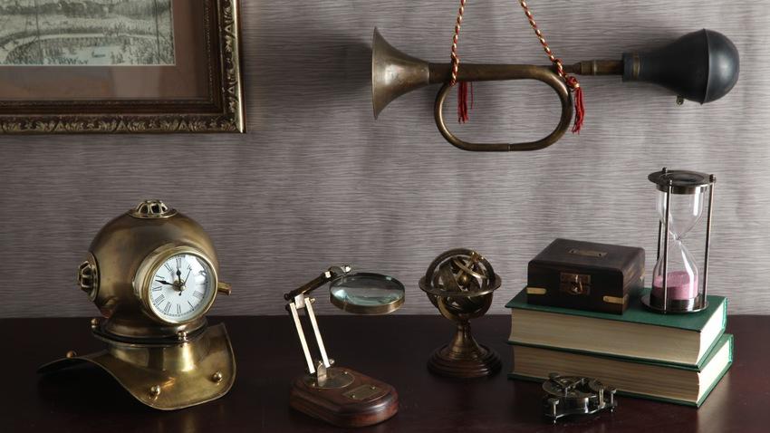 koloniální styl - přesýpací hodiny