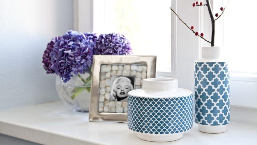 modrá velká váza