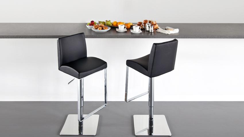 Kožená barová židle