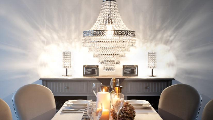 křišťálové světlo do jídelny