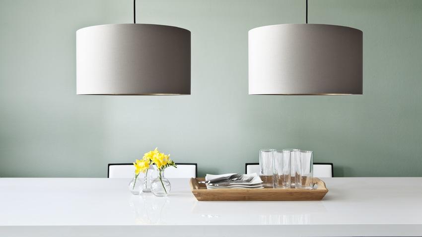 elegantní textilní stropní svítidlo