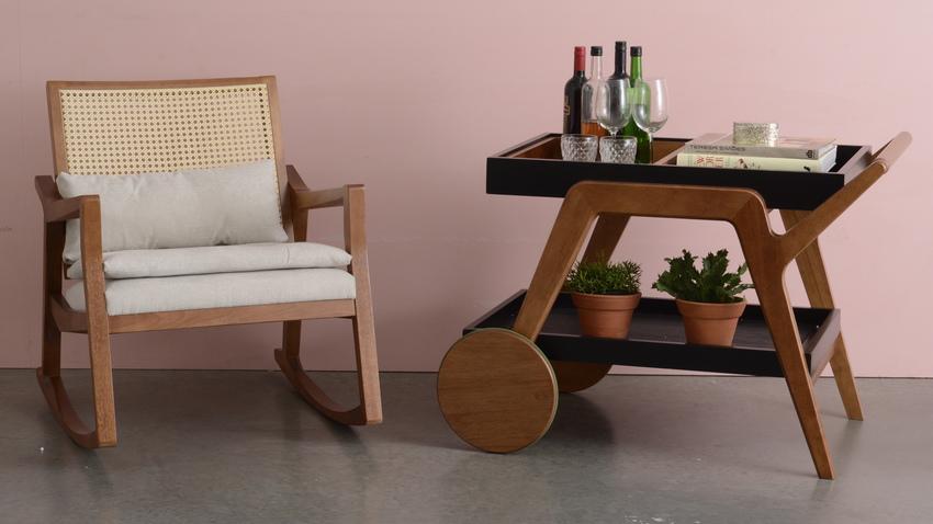 nábytek z masivu - houpací křeslo