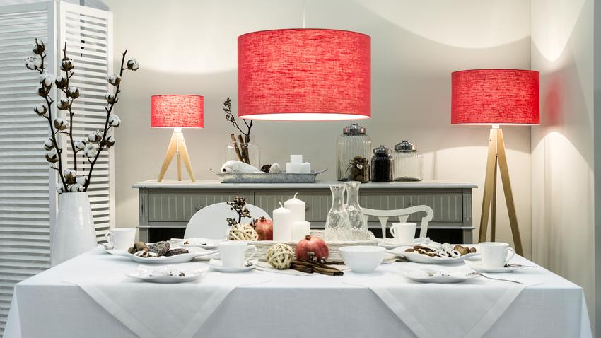 látkové světlo do jídelny