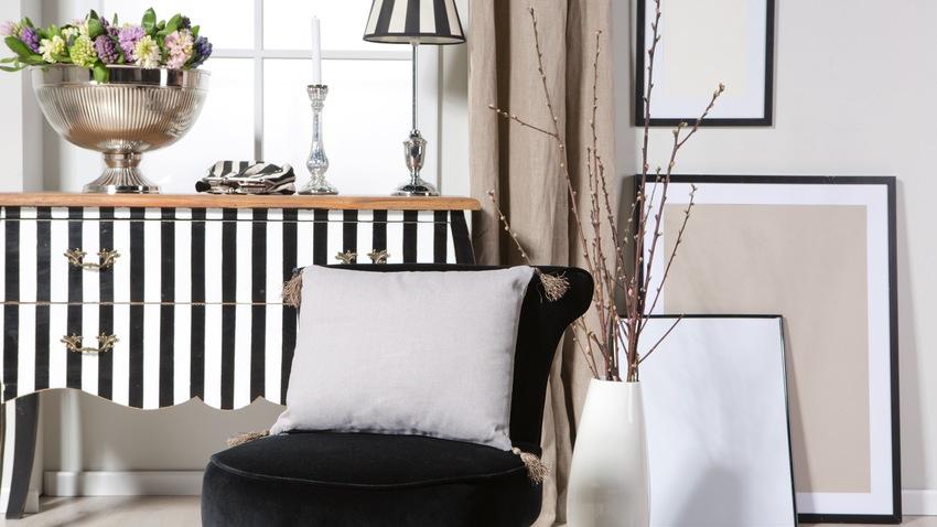 Černobílé dekorace