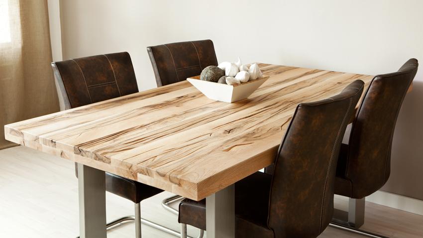 Kožená jídelní židle