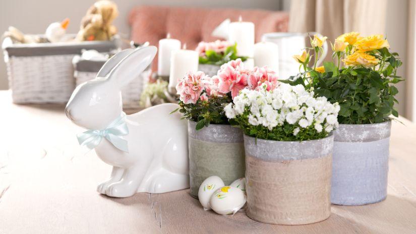 bílé velikonoční dekorace