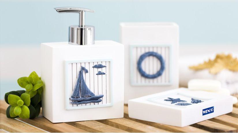 dávkovač mýdla v námořnickém stylu