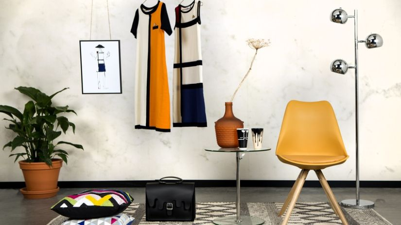 retro styl - hořčicově žlutá židle