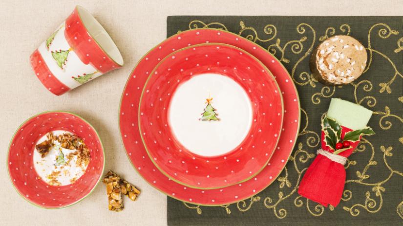 originální vánoční talíře