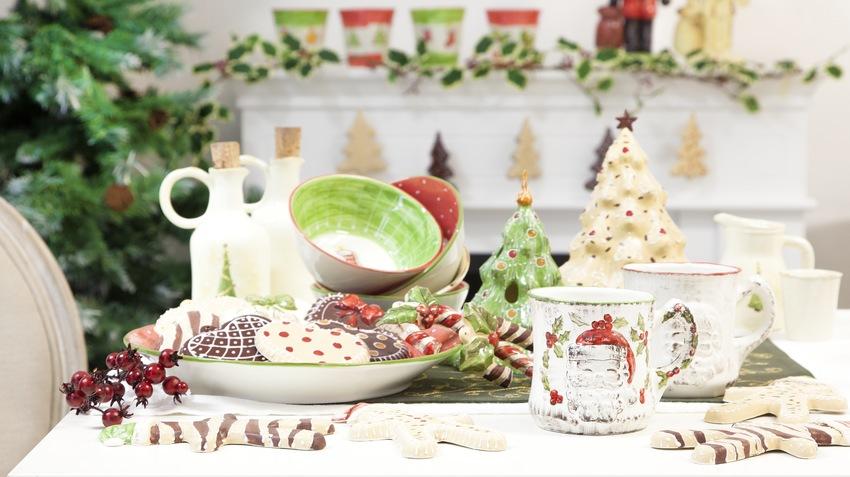 keramické vánoční talíře
