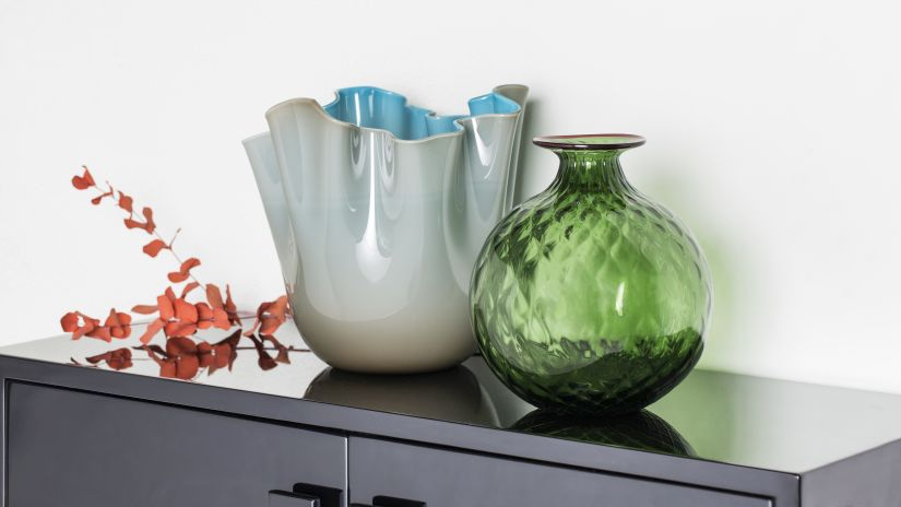 kulatá zelená váza