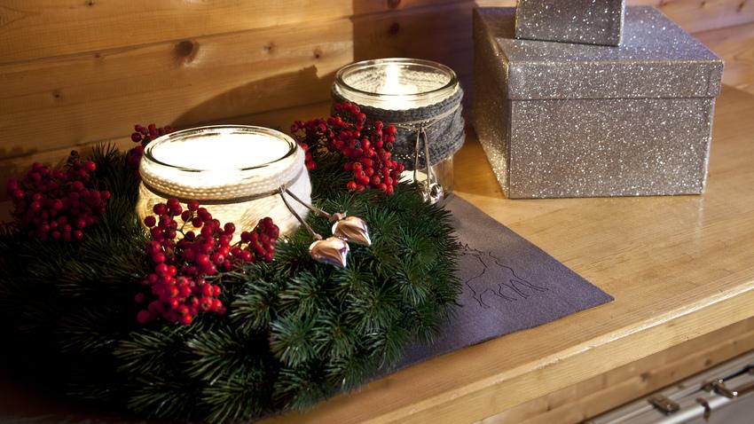 klasický vánoční věnec