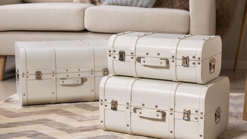 retro cestovní kufr