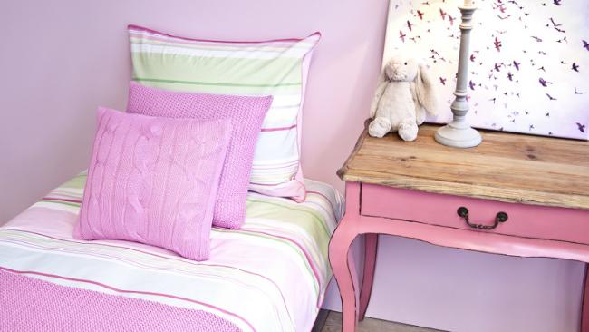 Kinderzimmer Farben in schönen Rosatönen