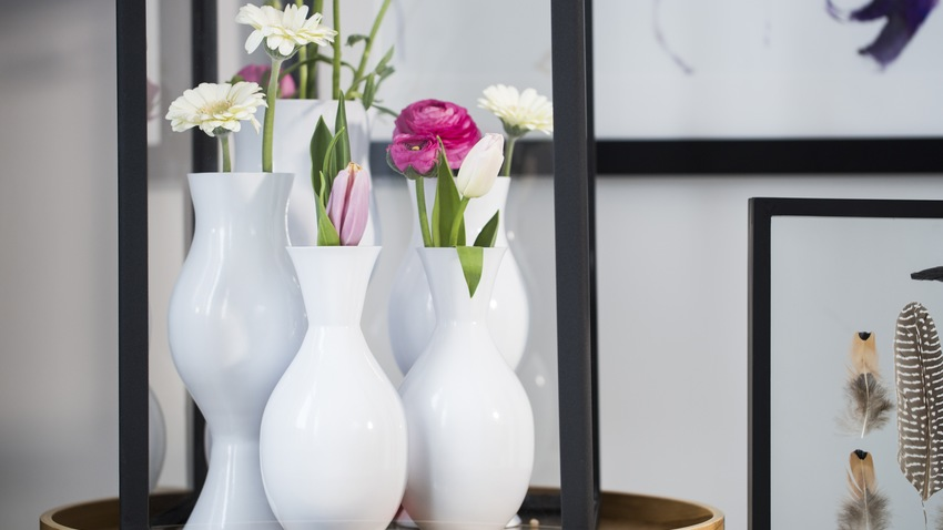 Blumenvasen dekorieren