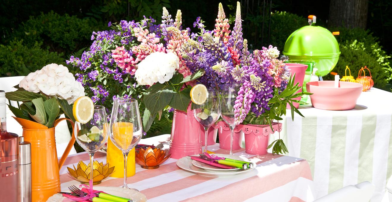 Tischdeko Sommerhochzeit
