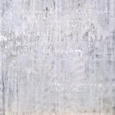 Jeannine Platz Kalligraphie Bild in grau