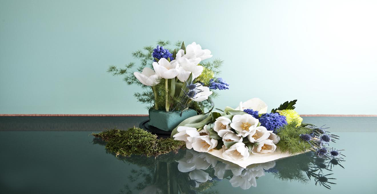 d40231d47bb4e Centro de mesa con flores  colorido primaveral