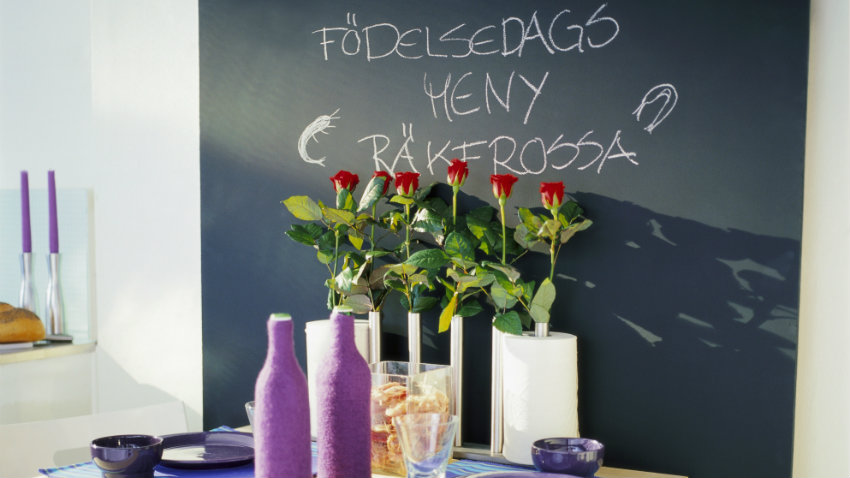 Pared de pizarra, ideas creativas para decorar