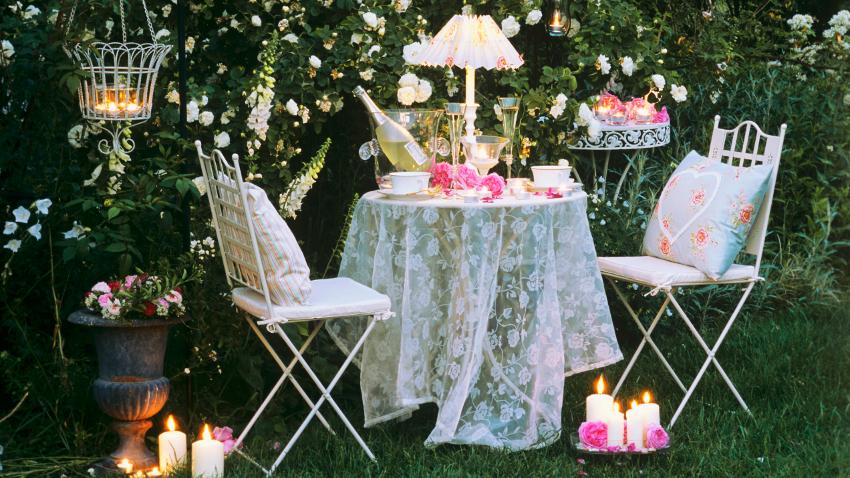 Mesas de boda vintage