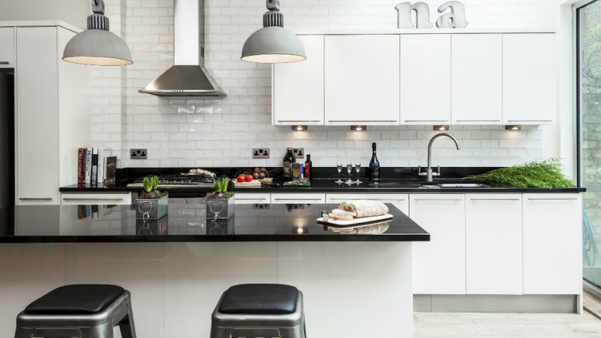 Cocinas en blanco y negro, ideas de decoración