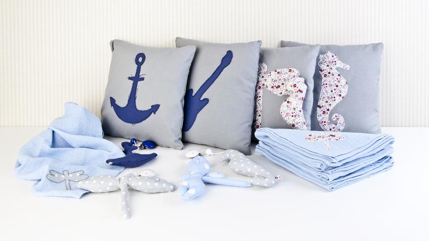 Edredones azules