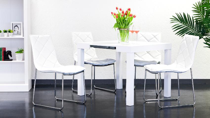 Sillas con patas cromadas modernidad en tu comedor for Sillas cromadas para comedor