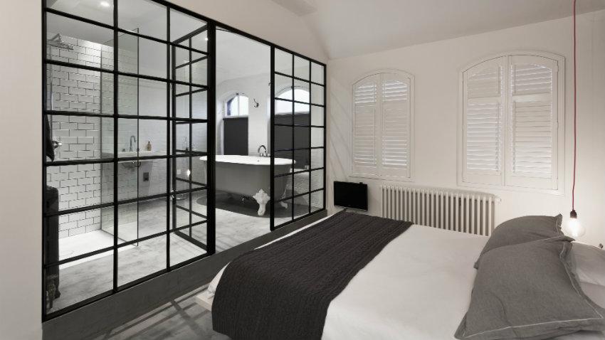 Dormitorio blanco y negro, decora con estilo