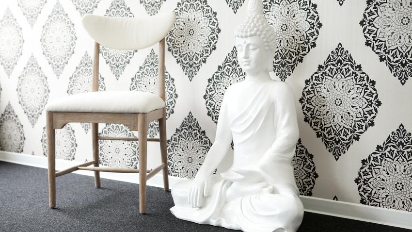 Salones papel pintado good renovar la decoracin con papel for Papel pintado oriental