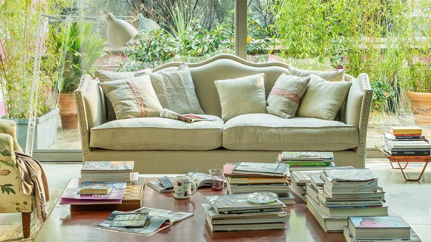 Sofá tapizado
