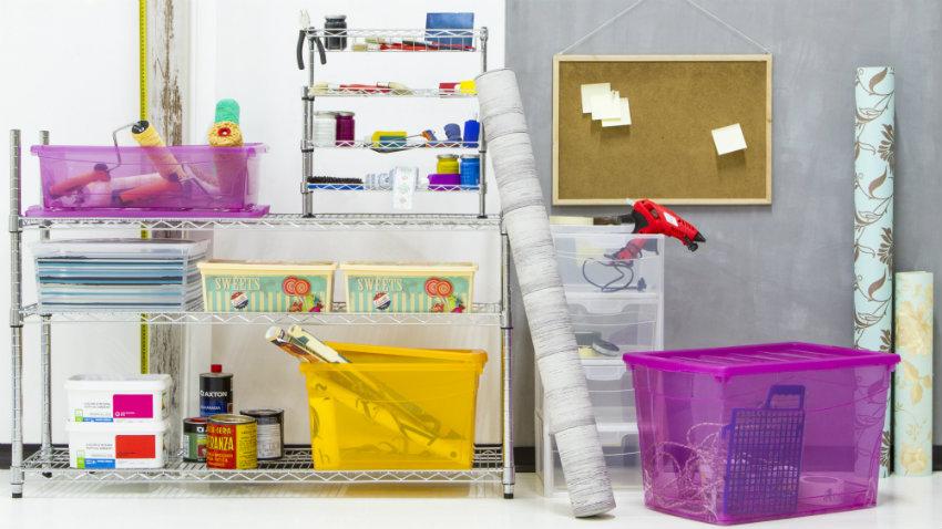 Cajas de almacenaje de plástico