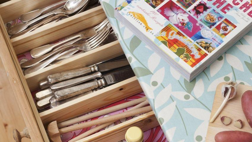Organizador de cubiertos de bambú