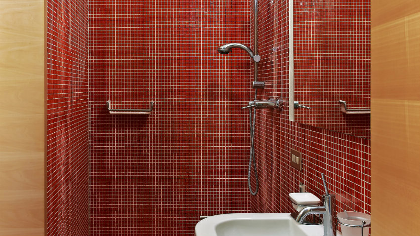 Duchas rusticas interesting modern shower with wood tile for Duchas rusticas fotos